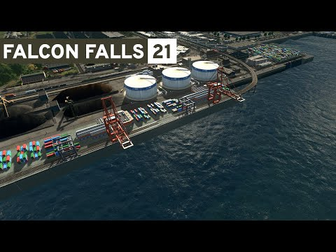 Harbor! - Cities Skylines: Falcon Falls - Part 21 -