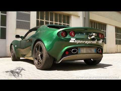 Supersprint exhaust for Lotus Elise S2 Rover
