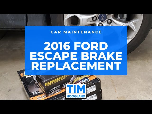 2016 Ford Escape - Replacing the Front Brakes