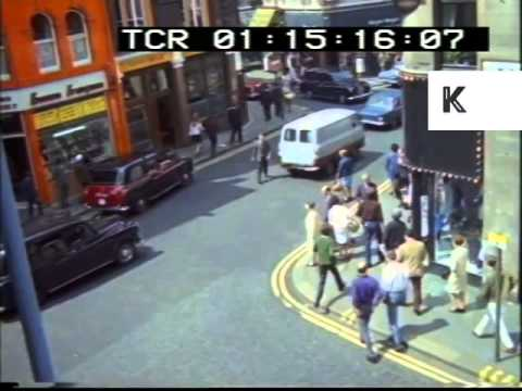 Daytime Streets, 1960s London Soho, Rare Colour Footage From 35mm