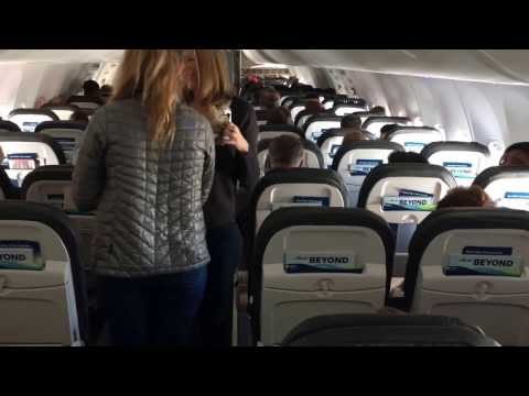 Alaska Airlines First Class on B737-900ER Seattle to Los Angeles  AS466