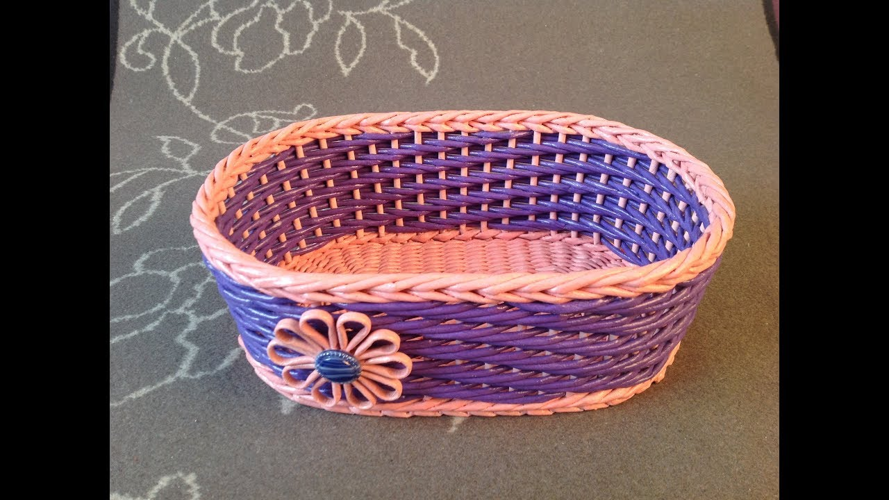 Weaving baskets from plastic bottles: master class 96