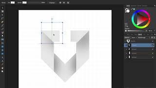 Erstellen Einer U-Logo Bei Affinity Designer
