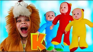 Alice and Spartak Learns colors and letters. Educational video  for Children