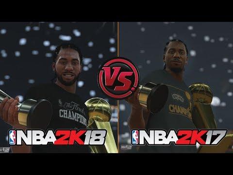 NBA 2K18 vs NBA 2K17 Finals Celebration Comparison Feat. Spurs