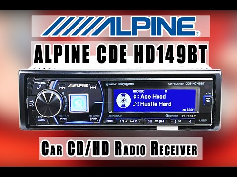 ALPINE CDE- HD149BT AM/FM tuner with built-in MOSFET amplifier