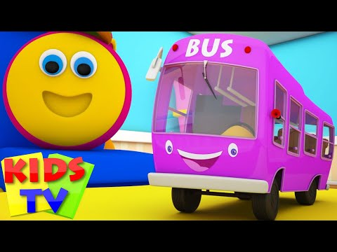 Bob The Train Wheels On The Bus Go Round And Round Nursery Rhymes Kids Songs Bob Cartoons S03EP11
