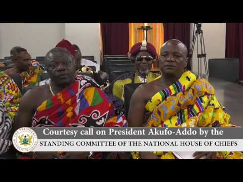 Courtesy call by the Standing Committee of the National House of Chiefs