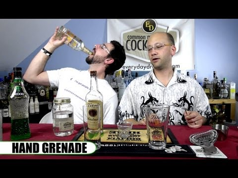 Hand Grenade Cocktail, How-To