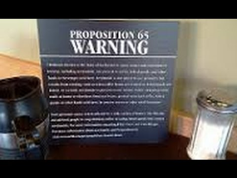 Proposition 65 Cancer Warning @ Starbucks, Morgan Hill, CA
