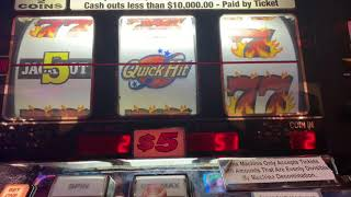 Double Jackpot Quick Hits High Limit Slot PLay