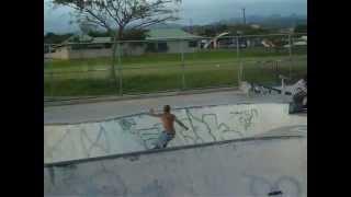 hawaiian concrete surf sessions-longboard-manana skatepark