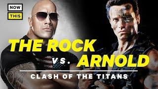 The Rock vs. Arnold: Clash of the Titans   NowThis Nerd