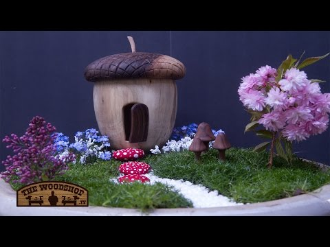 How To Make A Fairy Garden / Woodworking/Woodturning Project