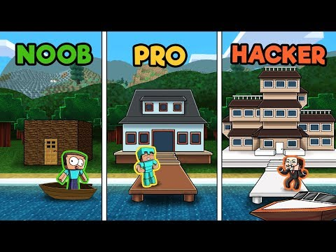 minecraft---lake-house-challenge!-(noob-vs-pro-vs-hacker)