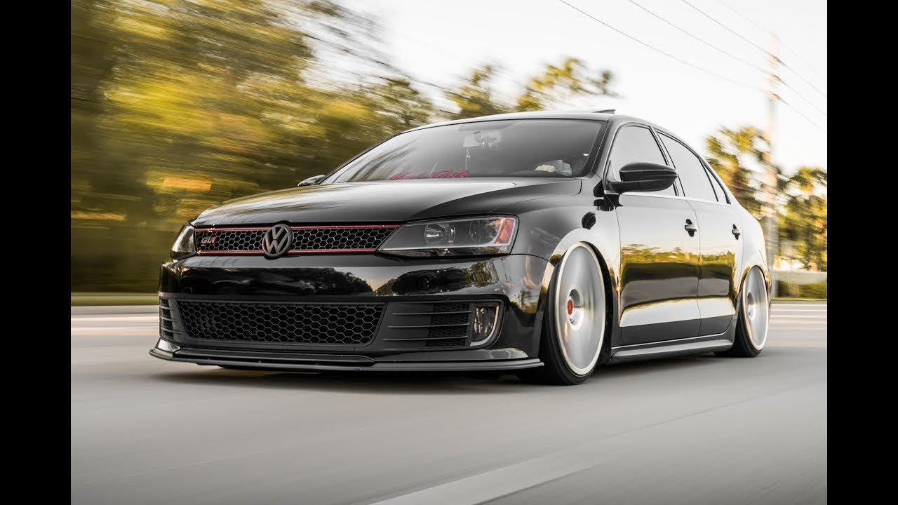 Bagged Jetta Gli On Rotiform Wheels Youtube