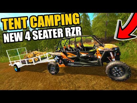 FARMING SIMULATOR 2017 | TENT CAMPING WITH THE NEW FOUR SEATER RAZOR | MULTIPLAYER