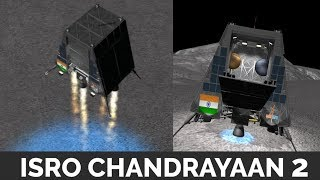 ISRO Chandrayaan 2 - animation , landing , launch