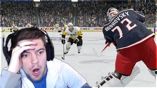 OUR EASHL GOALIE SCORED?! (NHL 18 CRAZY MOMENTS #1)
