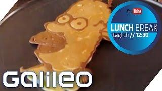 Pancake-Art zum Nachmachen | Galileo Lunch Break