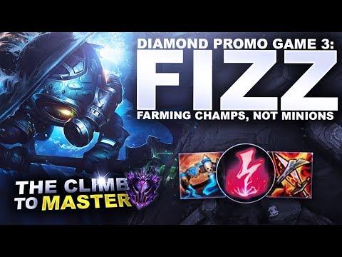 DIAMOND PROMO GAME 3: FIZZ! - Climb to Master S9 | League of Legends thumbnail