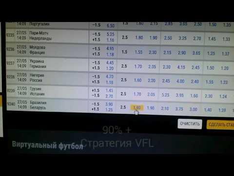Виртуальный футбол vfl стратегия ставок