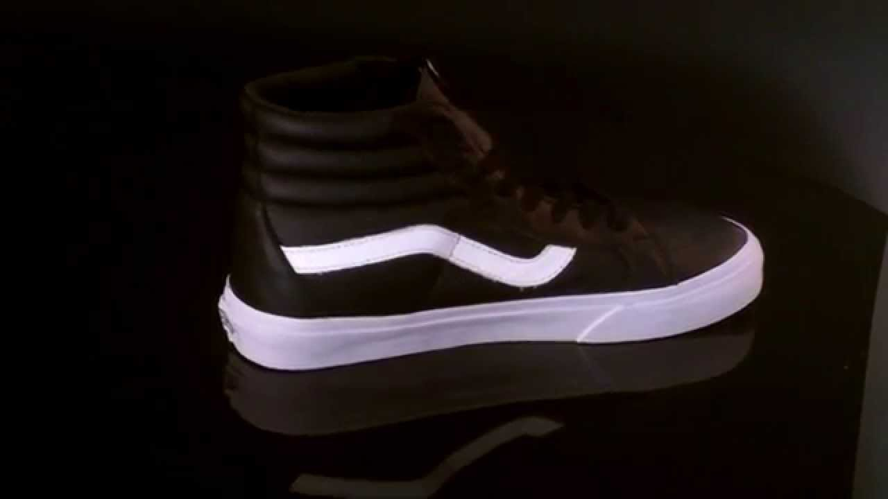c31df75b825f Vans U Sk8-Hi Sneaker Reissue Premium Leather Black VZA0EW9 - YouTube