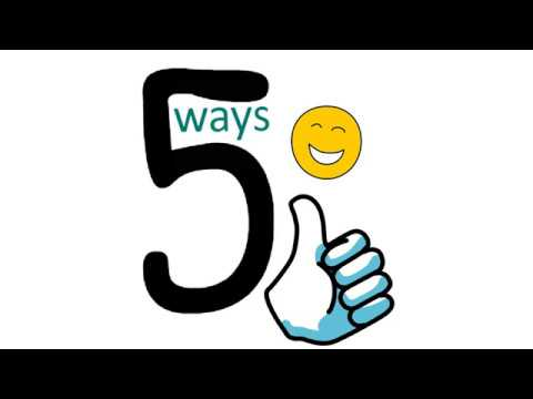 What are the five ways to wellbeing?