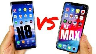 Galaxy Note 8 vs iPhone XS Max Speed Test!