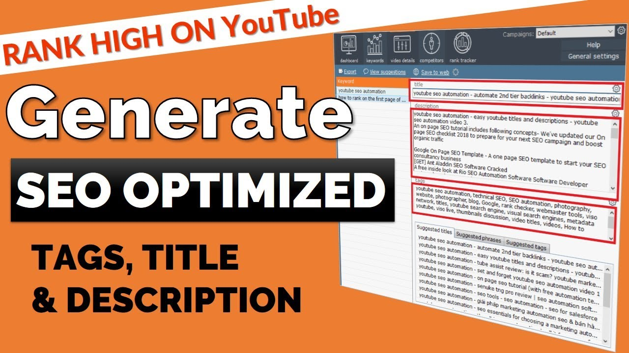 How To Automate Youtube Tags Title And Description All In One Youtube Seo