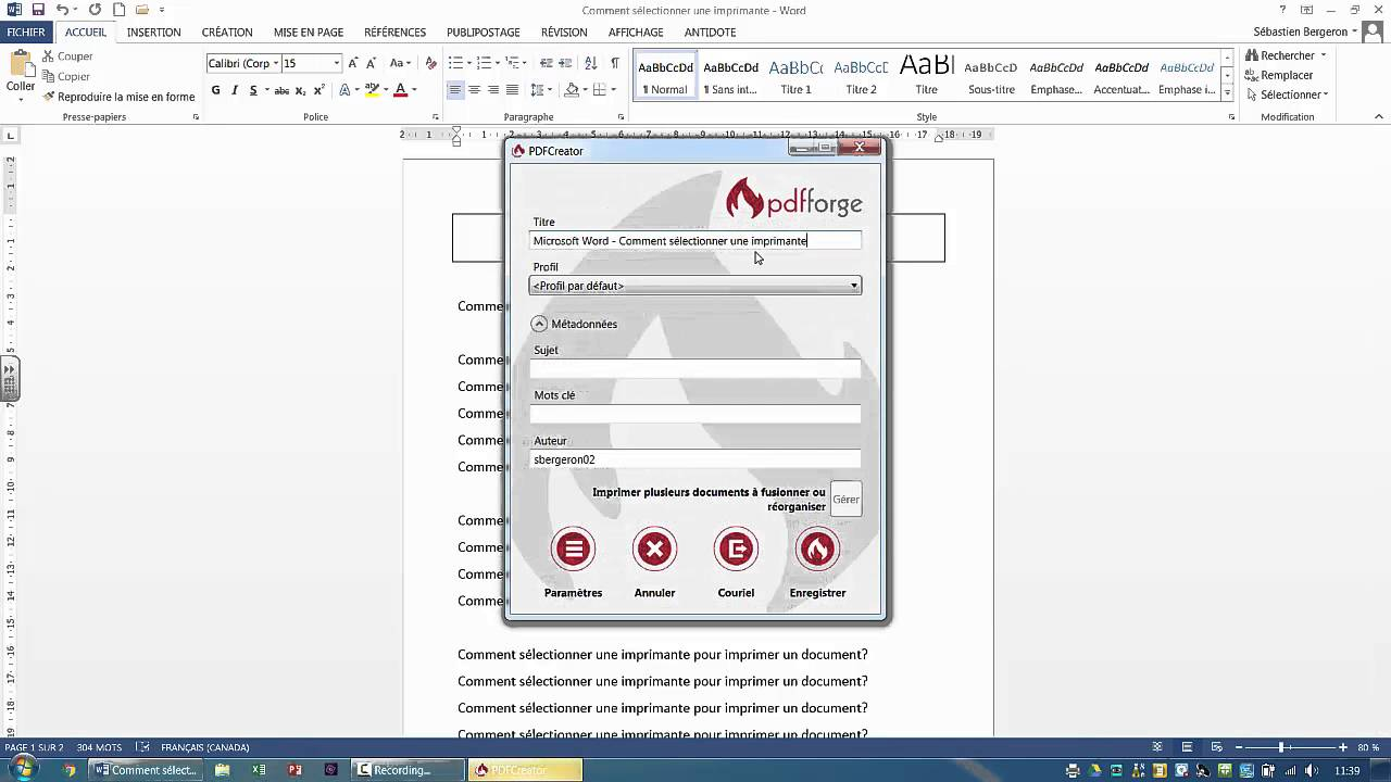 comment imprimer un document en pdf