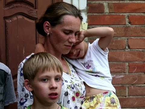 Families Flee Hard-hit