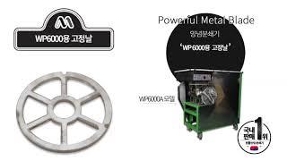 과일분쇄기 원뿔산업 정품 믹서몰 양파분쇄기 WP6000…