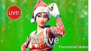 Fortnite * scrim Discord * estrada para 150 subs\Christmas peles de volta!!!! stream70 ao vivo