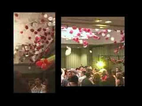 Balloon drop exploding balloon decorations youtube for Balloon decoration ideas youtube