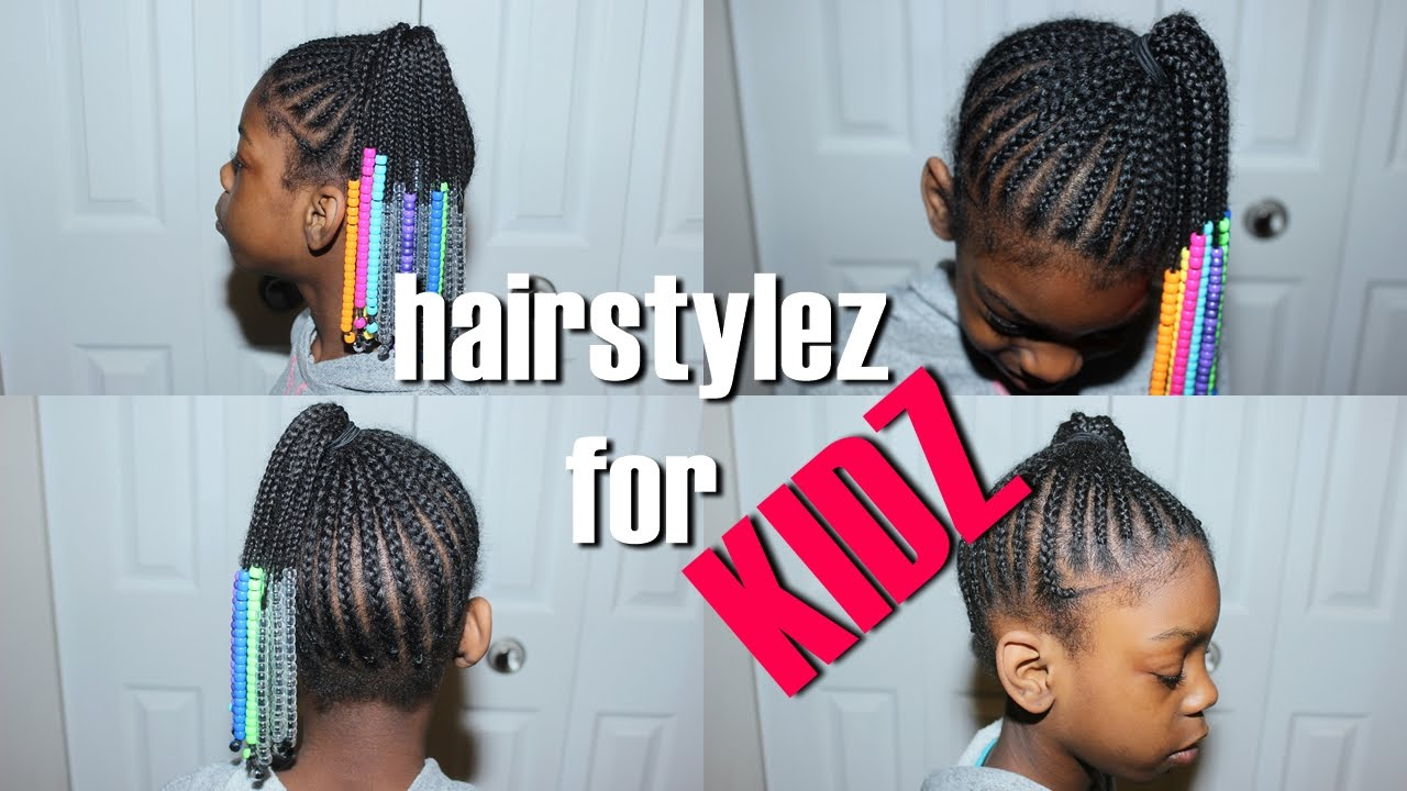 Hairstyles For Kidz Beads N Braids Side Pony Requested