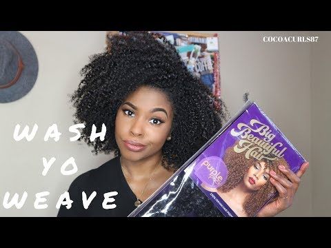 How To: Wash your Crochet hair before installing    Silky Hair Textures