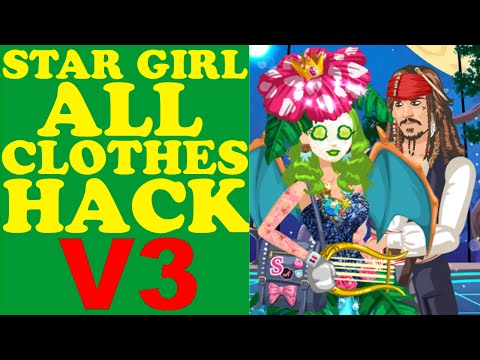 STAR GIRL ALL CLOTHES HACK V3/ВзломВсехВещей/所有的衣服哈克/すべての服は、ハック(Pokemon  Pack,Unreleased Items)2016