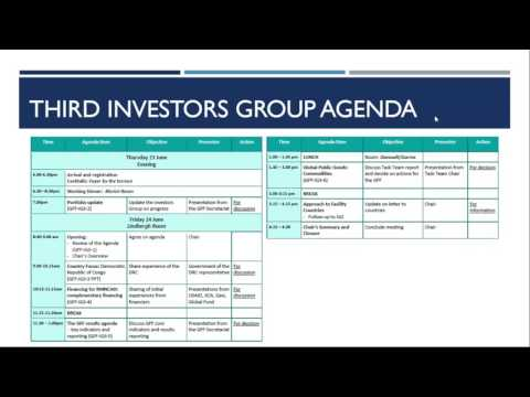 Global Financing Facility (GFF) June Investors Group (IG) Meeting Debrief
