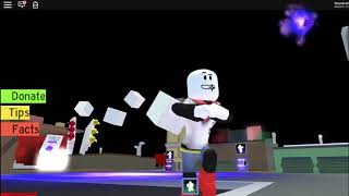 Papyrus does the Default dance but its on Roblox.