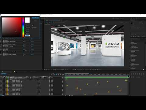 After Effects Modern Art Gallery 3D tutorial