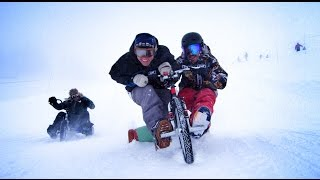 Trike Drifting in SNOW with Syndicate and Shonduras and DEVINSUPERTRAMP
