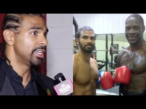 """DAVID HAYE ON SPARRING DEONTAY WILDER: """"HIS RIGHT HAND IS LIKE BEING HIT BY A SLEDGE HAMMER!"""""""
