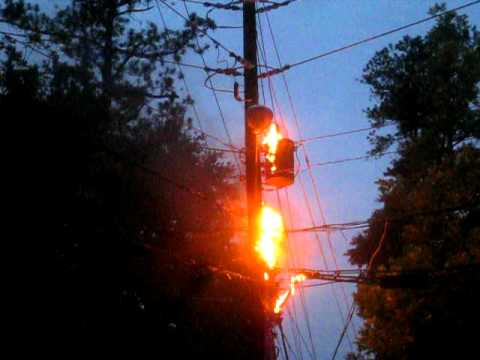 Image result for telephone pole on fire