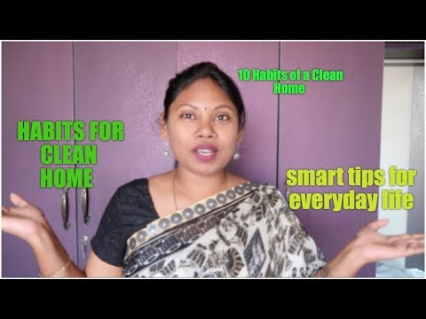10-everyday-habits-to-keep-your-house-clean-and-clutter-free-in-telugu-|-tips-and-tricks