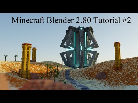 Minecraft Blender Render Tutorial 2.8 ; How to Render your Minecraft Builds(Cycles and basics)[#2] thumbnail