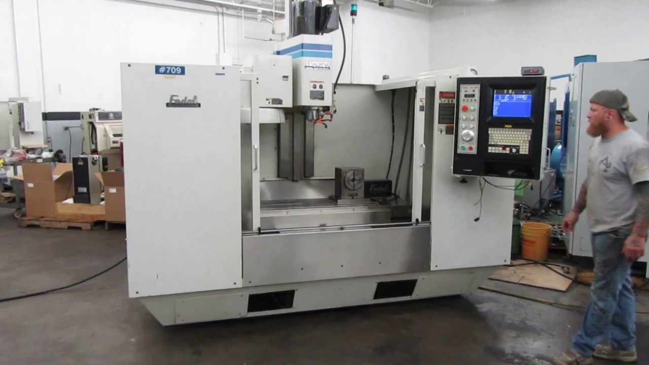 Fadal VMC 4020 4-Axis CNC Vertical Machining Center with VH65 Rotary Table