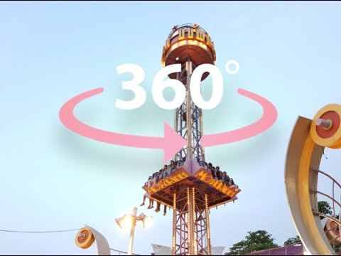 360 Degree Free fall Ride   Virtual reality 360° Video