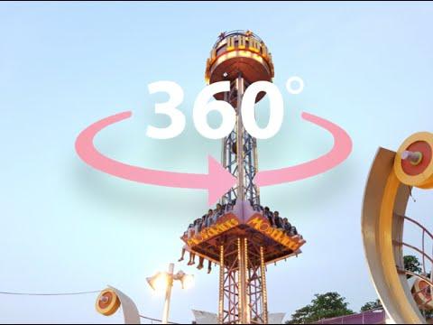 360 Degree Free fall Ride | Virtual reality 360° Video