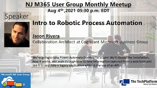 Intro to Robotic Process Automation - Jason Rivera